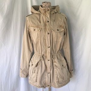 Aritzia Tabula Tan Trooper Utility  Jacket